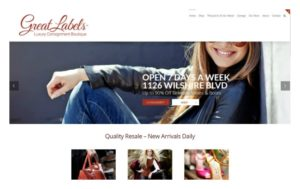 Great Labels website homepage